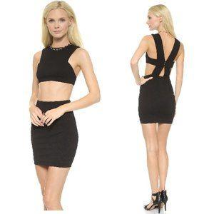 AQ/AQ Chrissy Black Cut Out Mini Dress